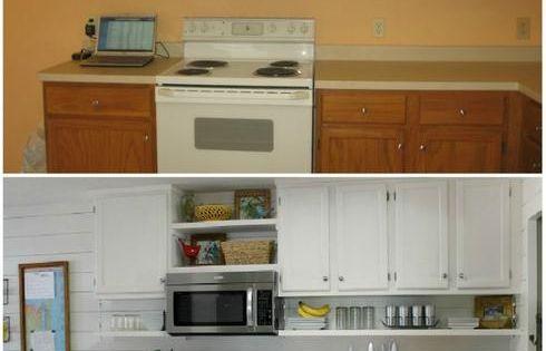10 fa ons de transformer ses armoires de cuisine sans les for Caisson armoire de cuisine