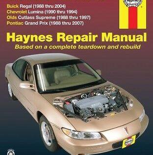 Repair Manual Base Haynes 38010 Chevrolet Lumina Buick Regal Buick