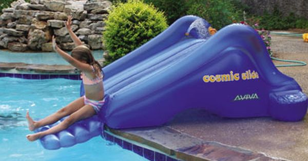 Love These Cosmic Pool Slide By Above Ground Swimming Pool Supplies Pool Fun