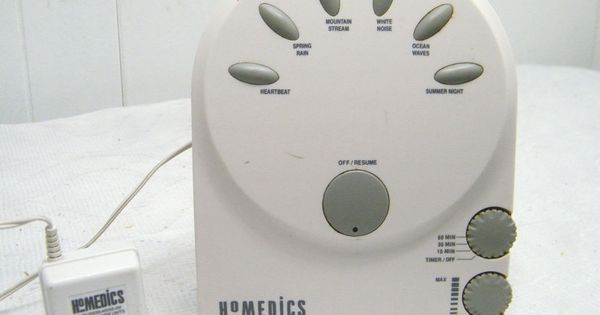 HOMEDICS WHITE NOISE / HEART MACHINE & ADAPTER SOUND