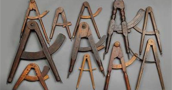 Elf Zirkel Aus Holz Zirkel Zeichengerat Holz