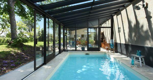 V randa piscine int rieure piscine pinterest veranda for Couvrir piscine exterieure