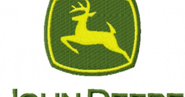 John Deere Emblem Embroidery Designs : Photo of john deere tractor logo machine embroidery design