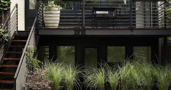 jardin et terrasse en ville d'une maison à Brooklyn  Jardins ...