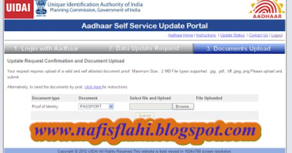 Know How To Change Your Address On Aadhar Card Online Nafisflahi Aadhar Card Cards Change Your Address