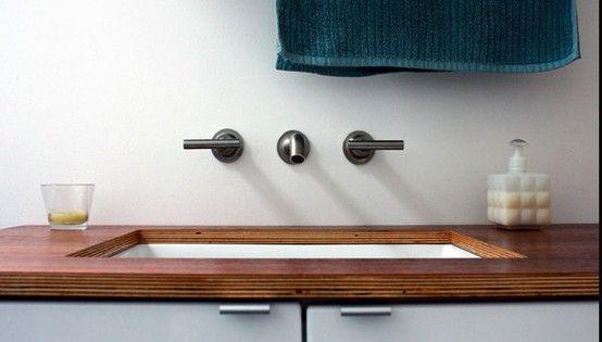 Marine Plywood Bathroom Floor : Marine plywood bathroom countertops architectural gems