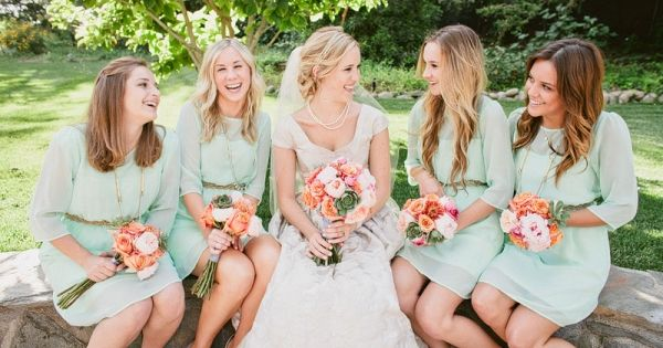 Mint Green Bridesmaid Dress, Short/Knee Length Chiffon Bridesmaid Dress on Etsy, $89.00