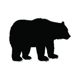 Bear Silhouette Stencil Bear Stencil Bear Silhouette Silhouette Stencil