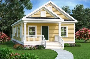 Bungalow House Plan 104 1185 2 Bedrm 966 Sq Ft Home Theplancollection Cottage Style House Plans Cottage House Plans Cottage Style Homes