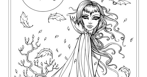 fall fairy coloring pages - photo#10
