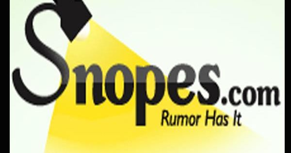 snopes got snoped