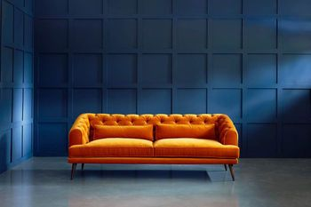 Earl Grey Modern Chesterfield Sofa In 2020 Living Room Sofa