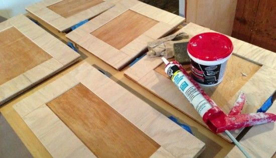 Plywood Strips To Update Cabinet Doors House Projects
