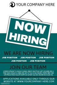 hiring poster templates hiring poster