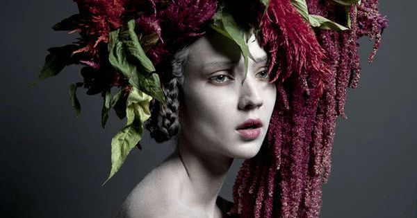 Bohemian Woodland Headpieces - The Carine Thevenau 'Huldra's Wood' Series is Luxur