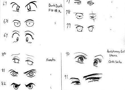 各种眼睛, How to Draw Manga People,Resources for Art Students / Art School