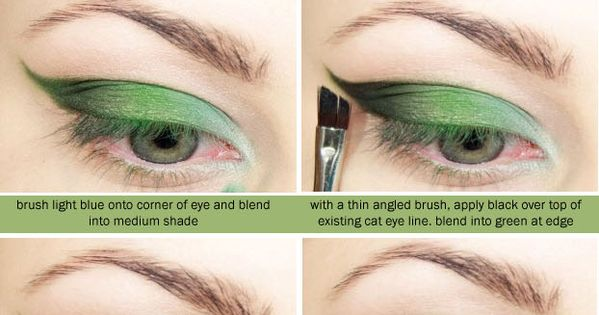 Green is good. A makeup look and tutorial. | Wonder Forest: Design