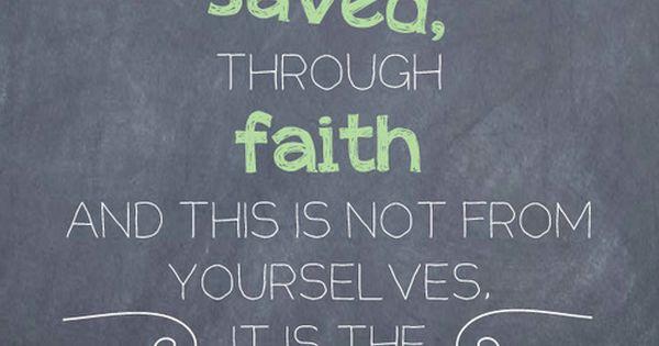 Ephesians 2: 8 Free Printable Bible Verses