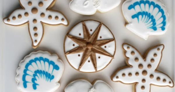 just-iced: custom handmade sugar cookies: beach