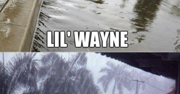 lolol. meganandliz lilwayne funny humor rain comedy lol