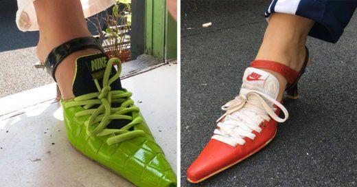 Esta chica reinventó los clásicos tenis Nike; ¡ahora tienen