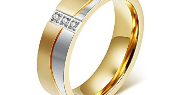 Mealguet Jewelry Flat 2 Tone Gold Amp Silver Men Amp Women Wedding