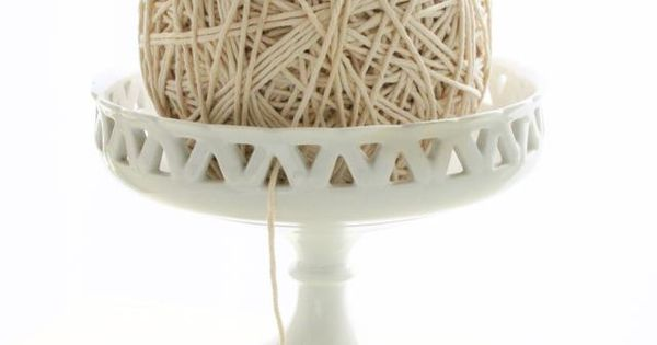 Basket Weaving Hobby Lobby : Using a vintage compote for yarn bowl hobby lobby