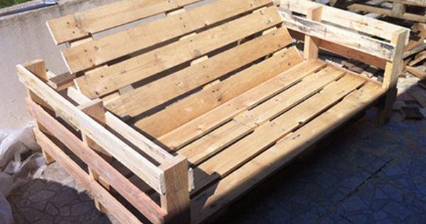 bricolage creer du mobilier de jardin avec des palettes en bois shunrize recup pinterest. Black Bedroom Furniture Sets. Home Design Ideas