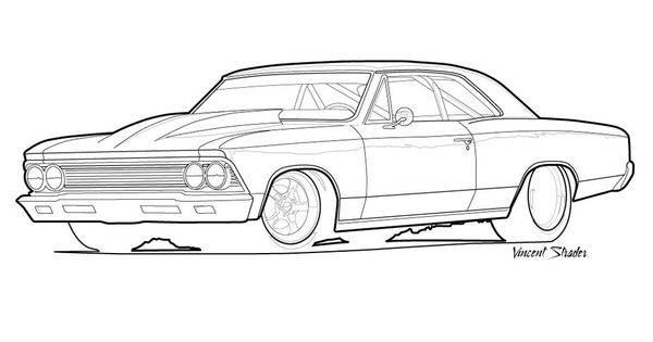 66 Chevelle Drawing The 66 Chevelle Pinterest Car