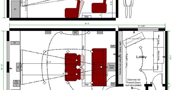 Home theater design layouts home theater room layout home theater design pinterest - Home theatre design layout ...
