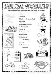 English teaching worksheets: Hanukkah | Hanukkah for kids ...