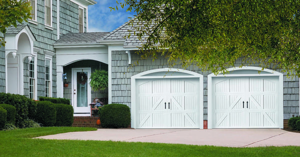 Amarr Classica 174 Lucern Garage Door With A Closed Arch Top