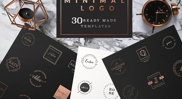 Feminine Logo Templates MINIMAL Logo – 30 ready made templates