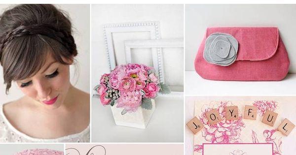 Mariage rose et gris Inspiré de theperfectpalette Noces de Cana - Wedding