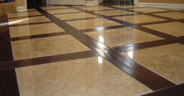 Beautiful walnut hardwood and travertine flooring home decor pinterest travertine floors - Interesting home interior flooring decoration with hardwood flooring ...
