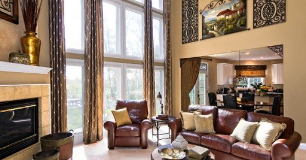 Traditional Family Room Design Ideas Pictures Remodel And Decor High Ceiling Living Room Traditional Family Rooms Family Room