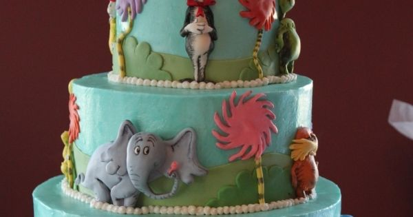 dr. seuss cake | created this 3 tier dr seuss cake for