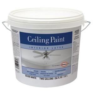 Glidden 2 Gal Bright White Flat Paint Gc1070 02 At The Home Depot Painted Ceiling White Interior Flat Paint
