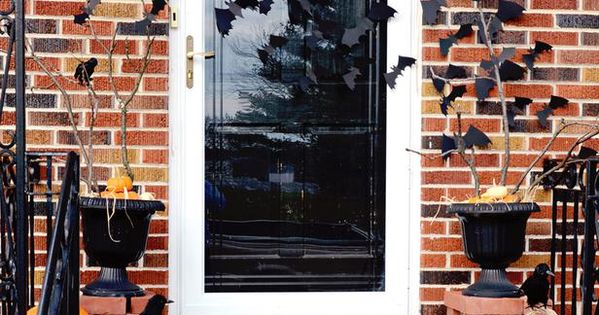 Halloween Bat Entry - Quick and Easy Halloween Front Porch Update