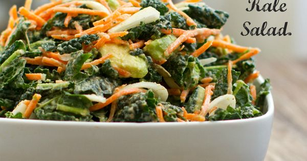 vegan: 5 step raw kale salad... 5-Step Kale Salad: 4 cups chopped