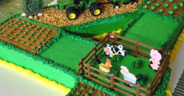 John Deere Tractor Farm Field Cake Nathan Likes The