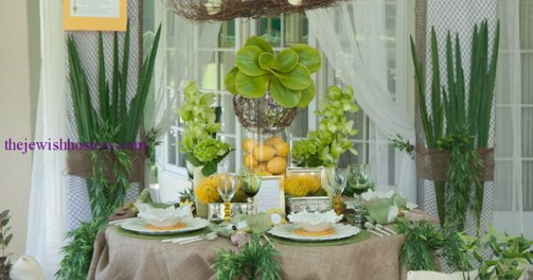 table setting for rosh hashanah