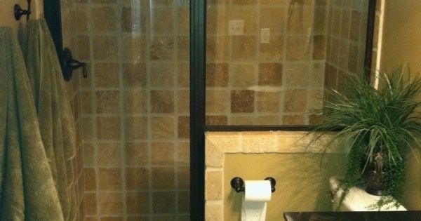 This Shower Door Could Work But Seeded Glass Bathroom