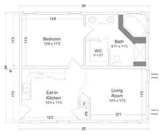 In Law Suite 1 Optional Rooms In Law House In Law Suite Pool House Plans