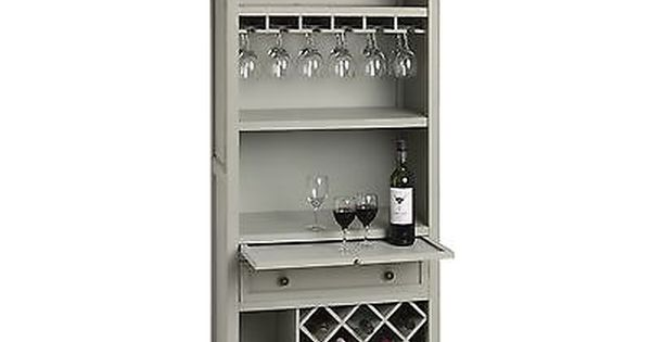 Antique French Grey Shabby Chic Drinks Cabinet Wine Rack Bar H14670 Cabinets Cupboards Furniture Drinks Cabinet Wine Cabinets Wine Storage