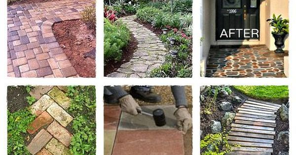 Amazing DIY walkway ideas! Hardscape, paths and outdoor spaces...