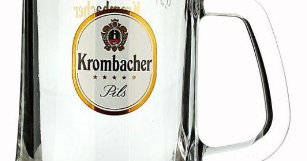Krombacher Tankard (Fluted) 0.5L | German Glasses | Beer ...