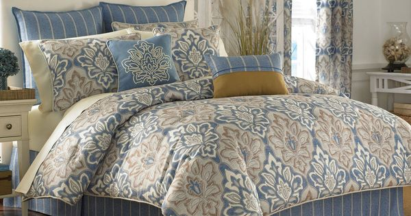Burgundy Blue Ivory Bedspreads And Comforters Captain