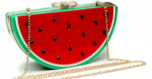 Red Watermelon Shape Box Clutch Bag Outfits Outfit Ideas