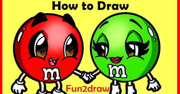 how to draw cartoons - m   m u0026 39 s candy